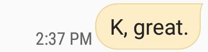 K, great.